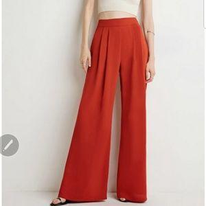 Reddish Orange wide leg trouser